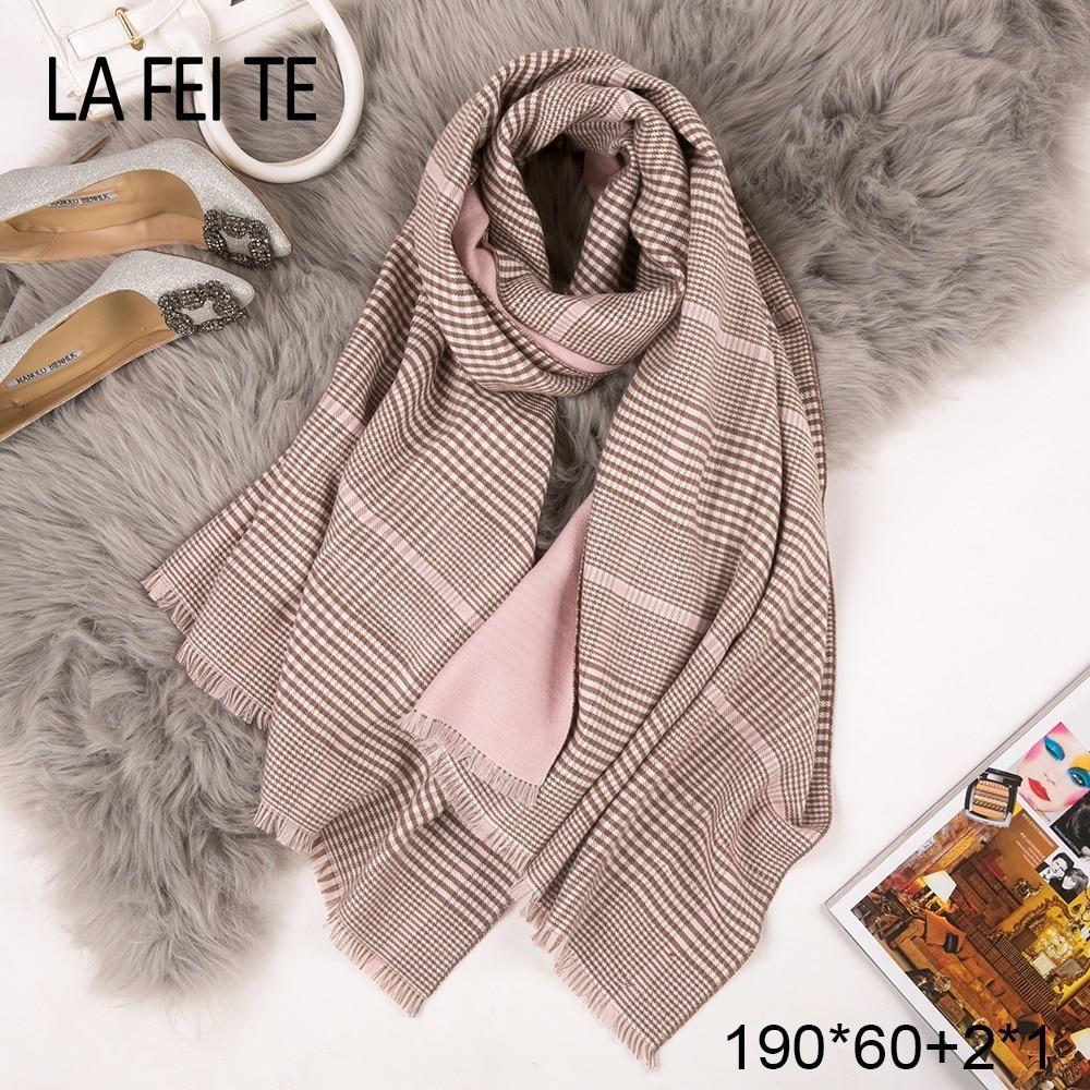 Winter Cashmere Scarf Women Neck Scarves Plaid Shawls Foulard Femme Poncho Blanket Stoles Bandana Handkerchief Scarfs