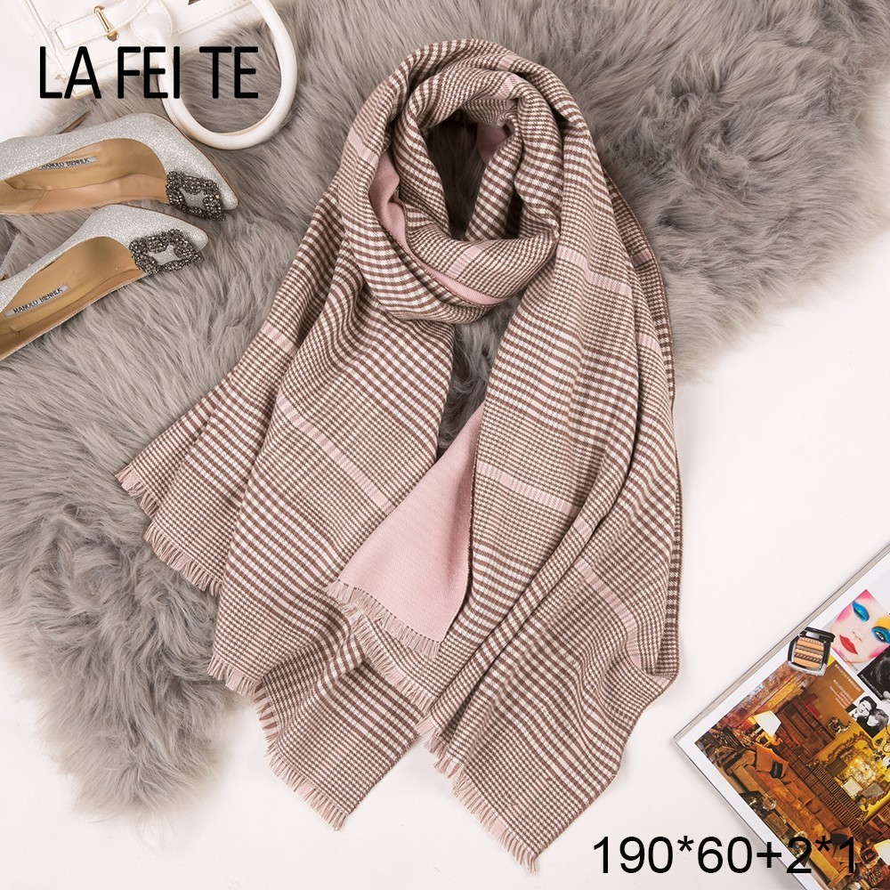 Winter Cashmere Scarf Women Neck Scarves Plaid Shawls Foulard Femme Poncho Blanket Stoles Bandana Handkerchief Scarfs For Woman
