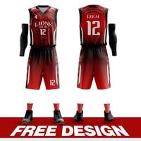 Wholesale Customized Basketball Uniforms Personalized Custom basketball jerseys Full Sublimation Sports Clothes Plus Size Kits