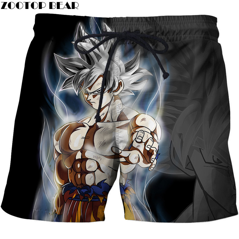 New Anime Dragon Ball Men T Short Hip Hop Fitness Breathable Cool Quick Dry Summer Beach Male Shorts 3d Print Goku Zootop Bear