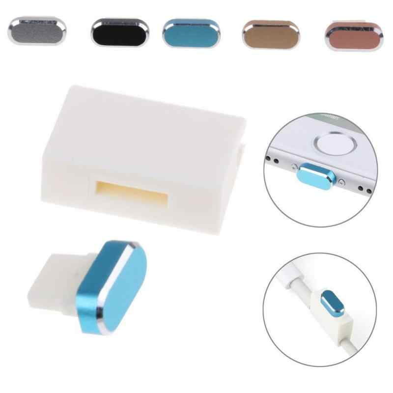 New Metal Skin PC Charger Port Anti Dust Plug Cap Stopper Cover For IPhone 7 #0121