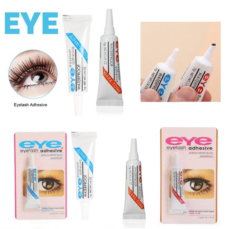 1PC 7g Clear/Black Adhesive Eyelash Glue Waterproof False Eyelashes Makeup Eye Lash Glue Beauty Cosmetic Tools TSLM2