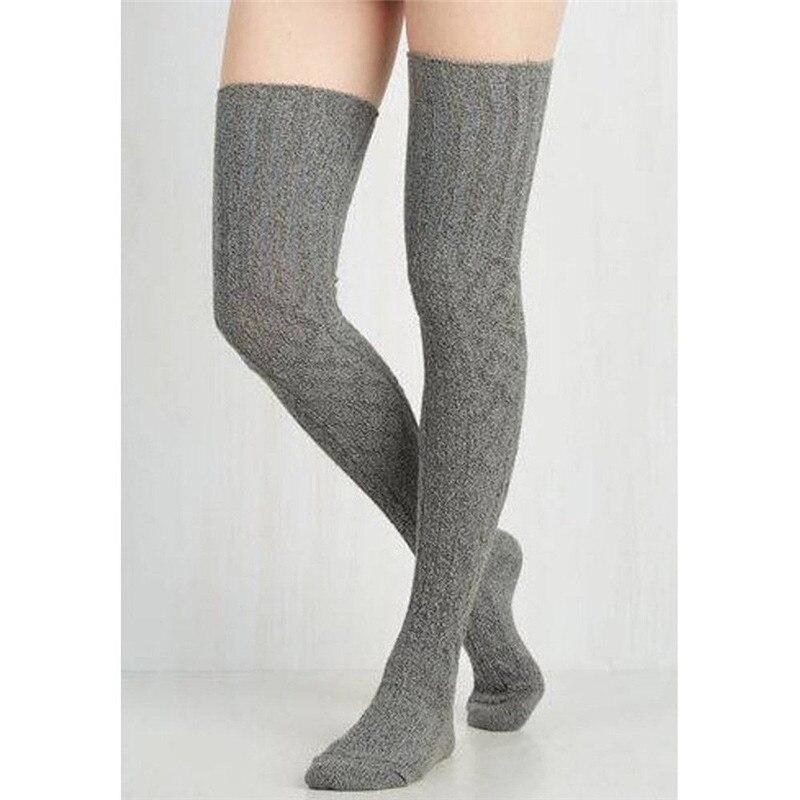 Women Over Knee Wool Knit Long Socks Winter Thigh-Highs Warm Socks Stocking HOT