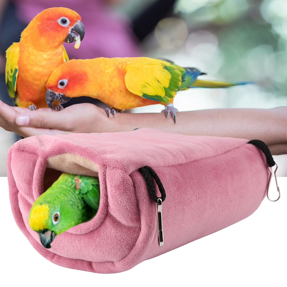 Pet Products Home & Garden Humorous Soft Coral Velvet Bird Nest Pet Parrot Hanging Sleeping Bed Dual Layer Hammock Chinchilla Hamster Parrot Warming Sleep Bag