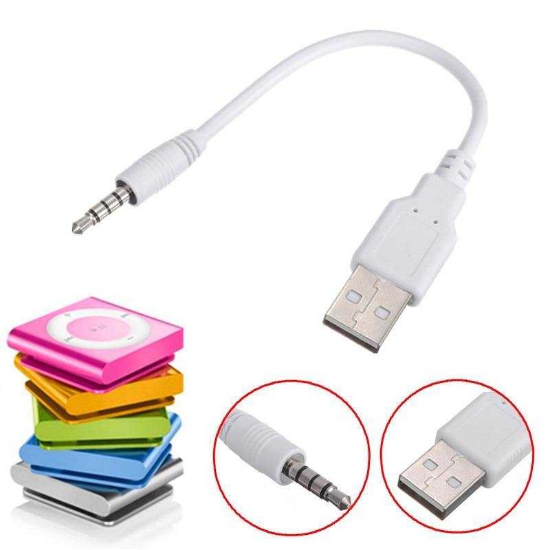 Weiß 3,5mm Usb Daten Sync Kabel Ladegerät Audio Jack Für Ipod Für Shuffle 3rd 4th 2nd Gen Reine WeißE Digital Kabel