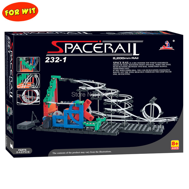 Free ship, Second Generation Space Rail Toys, New Roller coaster  Level 1: UP DOWN STAIR, Overspeeding Model Building Kits 232-1