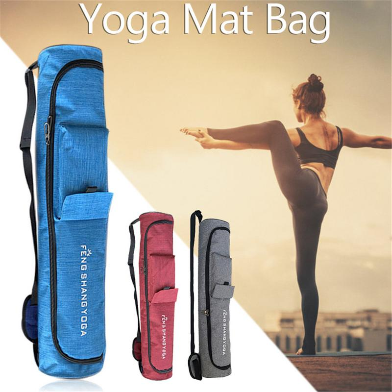 Ropa, Calzado Y Complementos Independent Yoga Bag Canvas 75*16cm Printing Drawstring Design Backpack For 6mm Yoga Mat Bag Pilates Fitness Gym Dance Training Pad Case