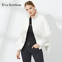 b824468359f814 2019 Spring And Autumn White Women S Down Jacket Lapel Original Irregular  Ultra Light Goose Down