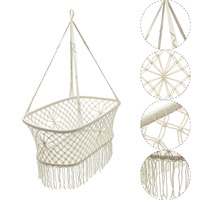 90x87x57cm Cotton Baby Garden Hanging Hammock Baby Cribs Cotton Woven Rope Swing Patio Chair Seat Baby Care Bedding