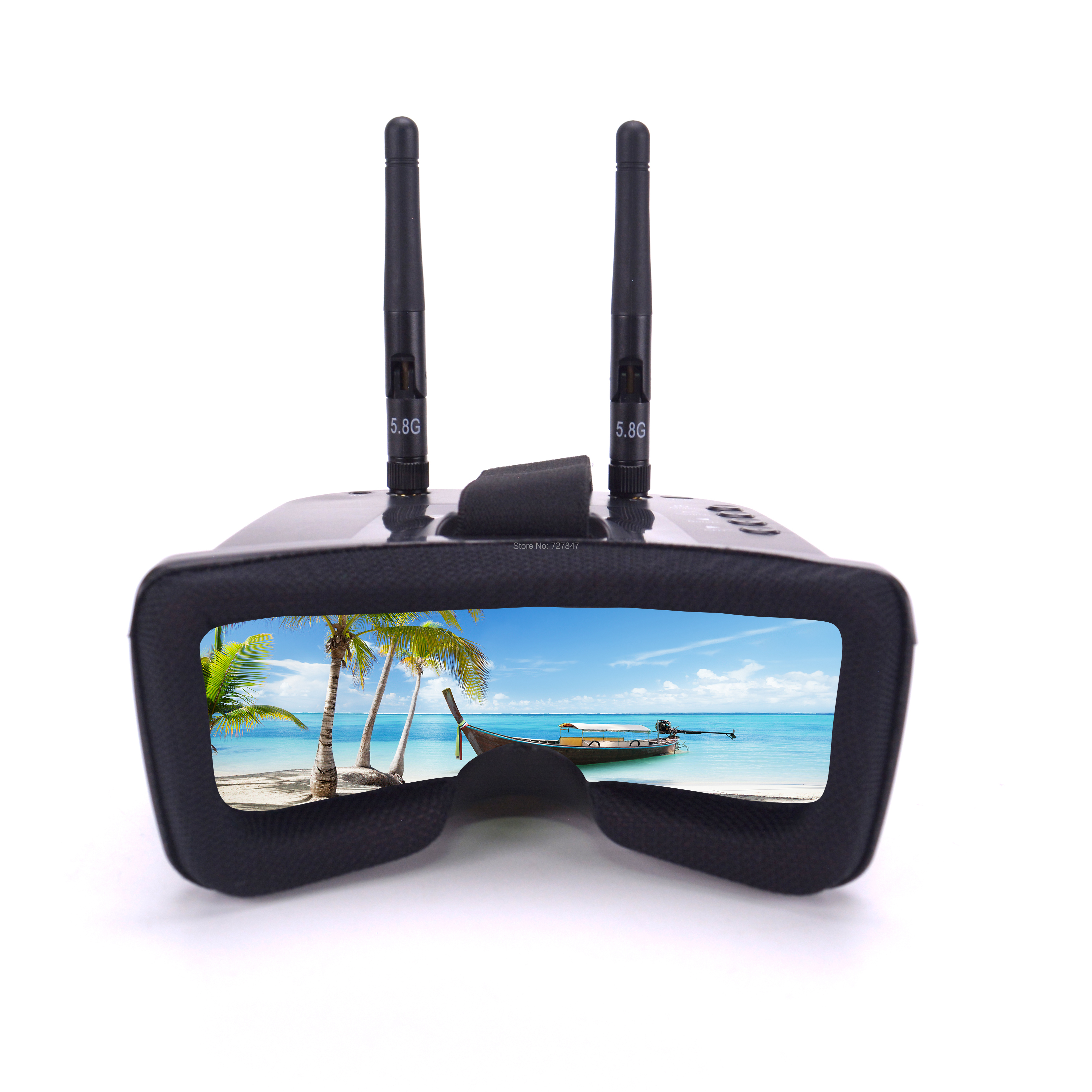 Mini FPV Goggles 3 Inches 480 320 Display 5 8G 40CH Auto Search w Build in