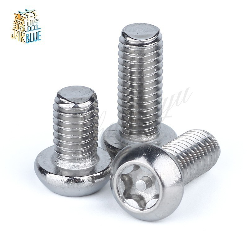 M6//6mm A2 Stainless Steel Security Bolts,Torx Pin Pan Head Anti Vandal Screws