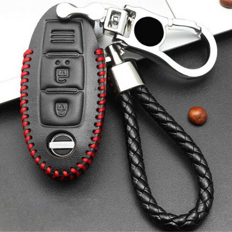 Кожаный дистанционный Автомобильный ключ держатель Чехол ж/брелок