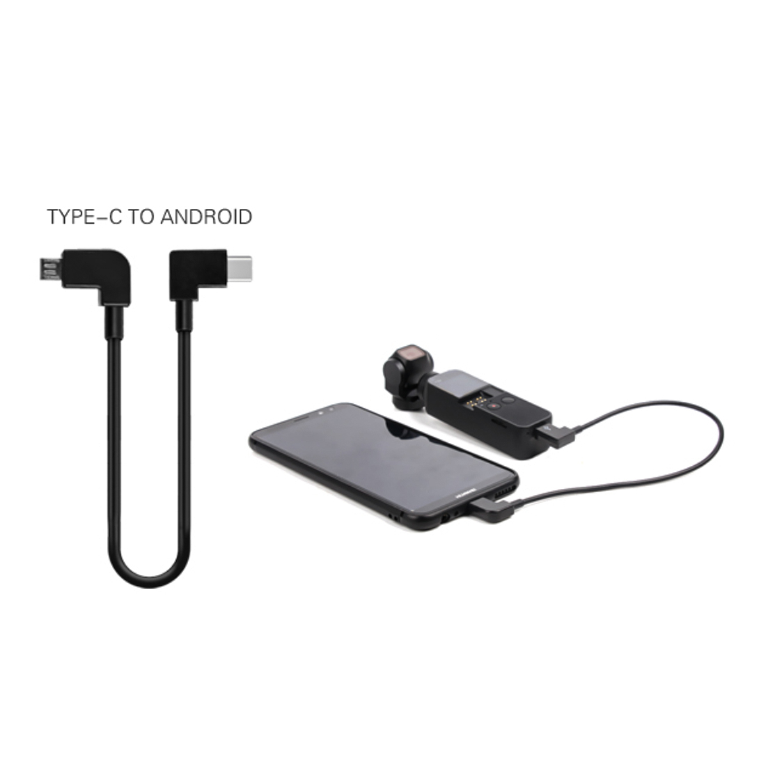 New Arrival 30cm Gimbal Camera Mobile Phone Data Extension Cable Type-c to /Micro USB Adapter for DJI Osmo Pocket