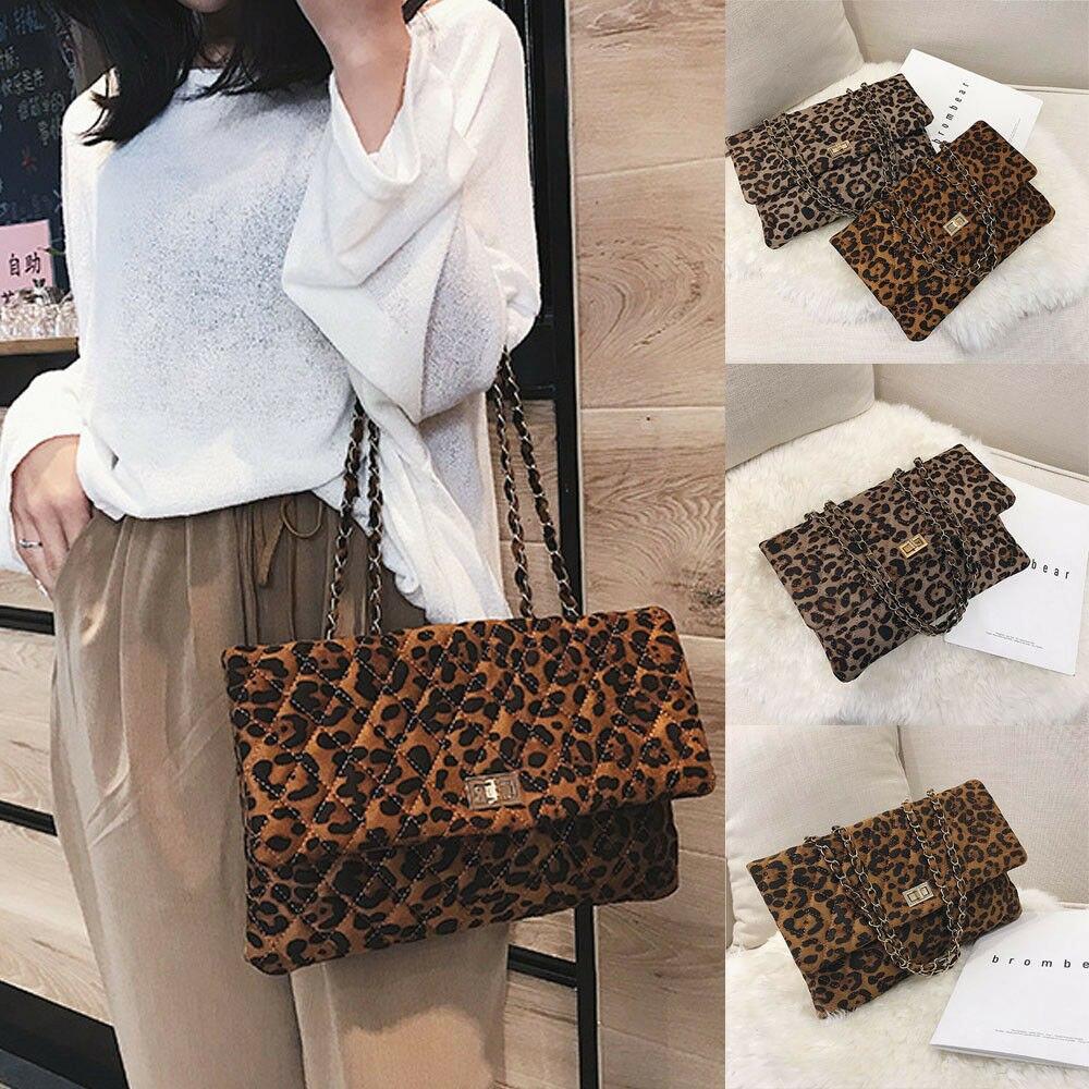 Women Travel Bag Leopard Handbag Lady Shoulder Bag Tote Purse Leather Women Messenger