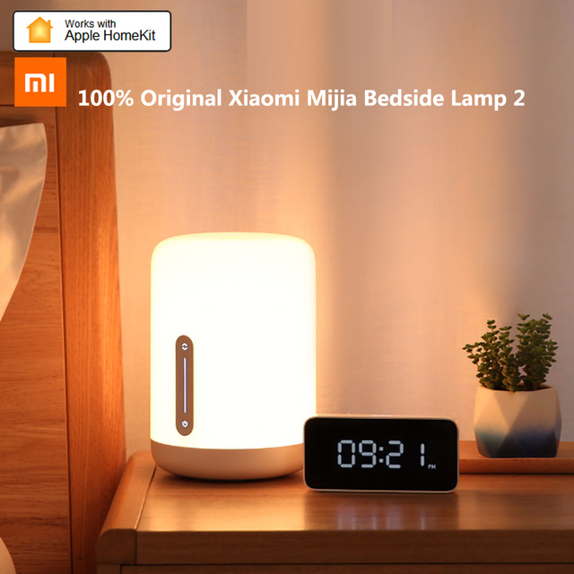 Xiaomi Mijia Bedside Lamp 2 Smart Light Voice Control Touch Switch Mi Home App Led Bulb Apple Homekit Siri AI Romantic Bed Lamp