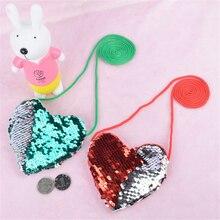 Женские мини-кошельки с сердечком и блестящими блестками, кошелек для монет, женские маленькие ручные сумки для девочек, держатель для карт, сумки через плечо