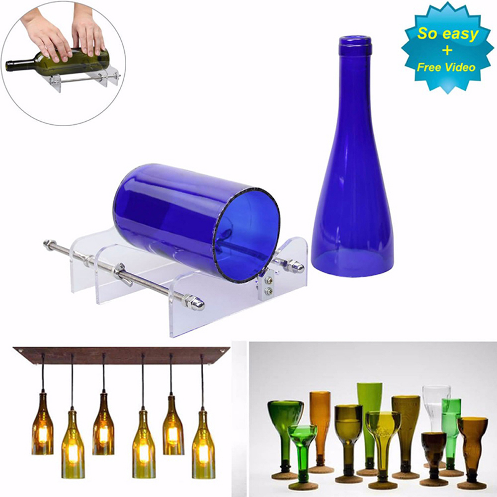 DIY Cut Tools Machine Wine Beer Cutter Glass Wine Bottle Cutter Cutting Machine Jar Craft Machine Recycle Tool Kits