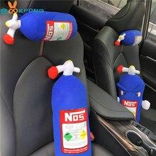 NOS azot oksit şişesi yastık peluş oyuncak Turbo JDM yastık hediye dekor kafalık arkalığı klozet kapağı araba boyun yastığı dekor