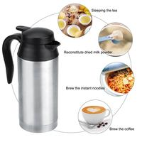 12V 750ml Car Portable Electric Travel Heating Cup Coffee Tea Boiling Mug Kettle Universal for 12V 24V power source cars