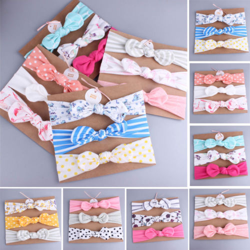 3Pcs/Lot High Quality Handmade Cotton Flower Crown Hair Accessories Kid Headband Hair Band Bows Hair Ties For Girls Headbands