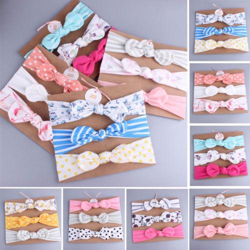 3Pcs/Lot High Quality Handmade Cotton Flower Crown Hair Accessories Kid Headband Hair Band Bows Hair Ties For Girls Headbands