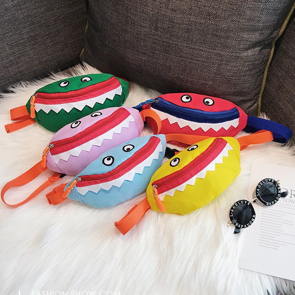 Kid Baby Waist Bags For Girls Boys Cartoon Shark Casual Bags For Kidergarten Girls Boys Fanny Bag Chest Girls Money Bag Handbags