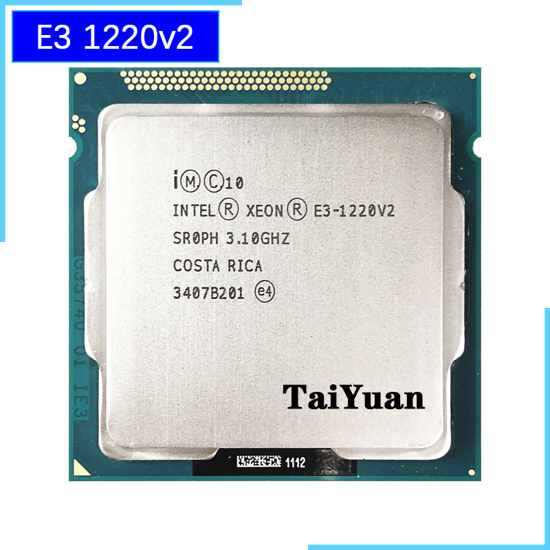 US $21.1  Intel Xeon E3 1220 v2 E3 1220v2 E3 1220 v2 3.1 GHz Quad Core CPU Processor 8M 69W LGA 1155-in CPUs from Computer & Office on AliExpress