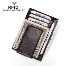 Manufacturer Direct on Behalf of Amazon Grain Leather Card Holder Korean-Style Fashion You La Pi RFID Genuine natural de