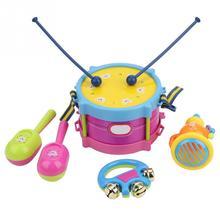 5 шт., детский барабанный Трубач-игрушка, музыкальный ударный инструмент, набор для раннего обучения, обучающая игрушка, детский подарочный набор