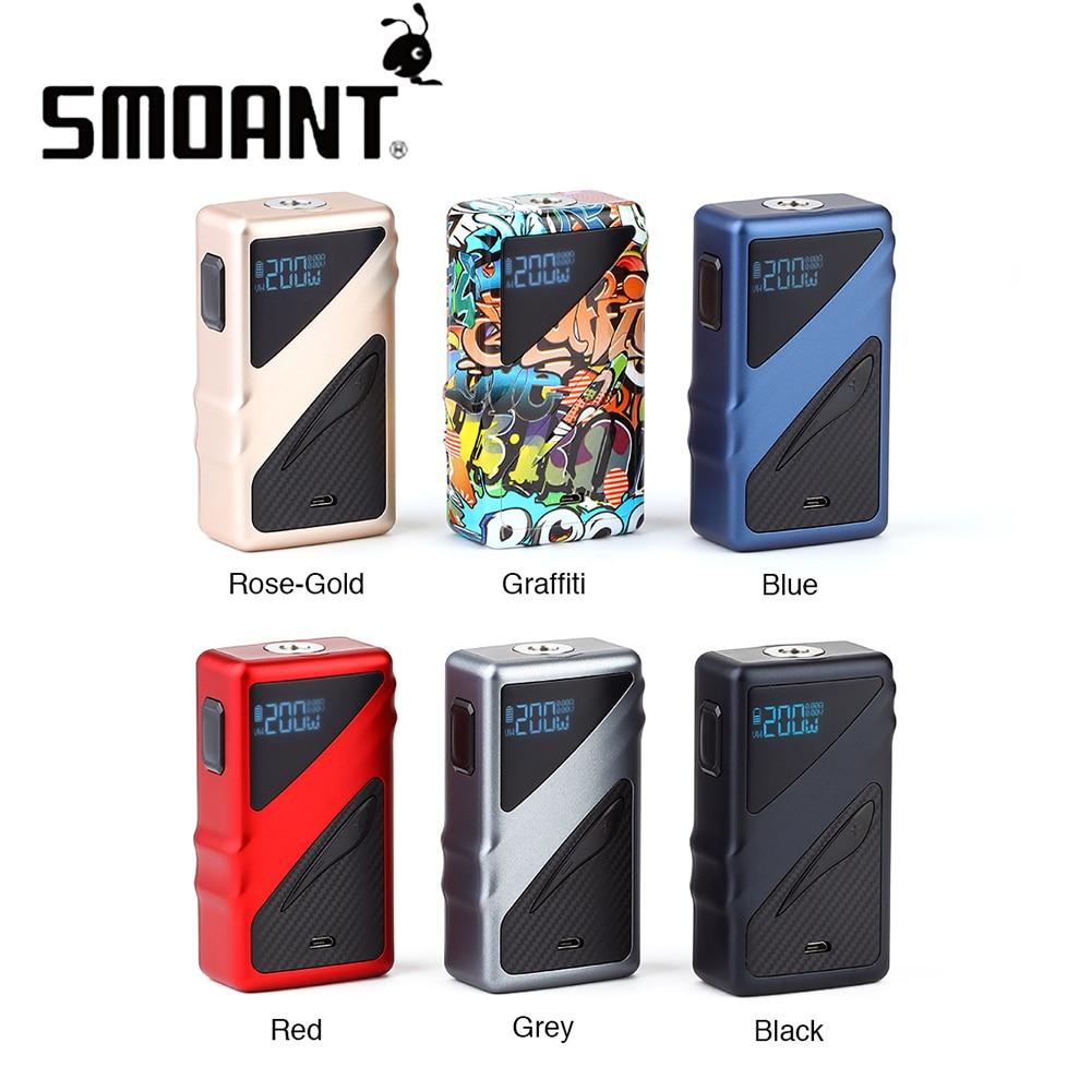 Nouveau Original Smoant Taggerz 200 W mod boîte à cigarettes électronique Mod avec écran OLED pas de batterie e-cigs vaporisateur vs glisser 2/MIni