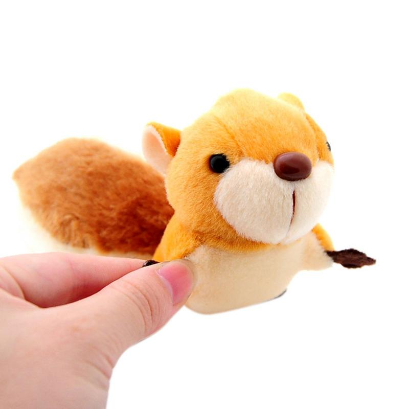 Little Soft Squirrel Doll <font><b>Plush</b></font> <font><b>Toys</b></font> Stuffed Mini Metal <font><b>Key</b></font> <font><b>Chain</b></font> Pendant Over Sized Tail Shape Decor For Home Car Bag Party image