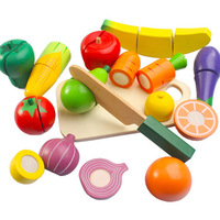 Wooden Children Alpinia Oxyphylla Early Childhood House Kitchen Toys Set Simulation Fruits Earnestly See Game Vegetables Wood