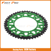 49T CNC Rear Chain Sprocket KX125 KX250 KLX650 Motocross Supermoto Enduro Racing MX Dirt Bike Off Road Motorcycle