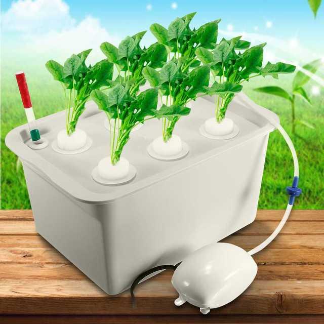 1 комплект 220 В/110 В установка гидропонные системы комплект 6 отверстий кассеты для рассады Soilless контейнеры для выращивания растений рост рас...