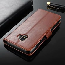купить For Samsung Galaxy J2 Core Case Luxury Retro PU Leather Wallet Flip Case Soft TPU Cover For J2 Core Stand Phone Cover дешево