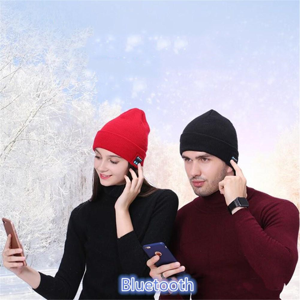Mounchanin Unisex Winter Beanie warm Hat Cap Wireless Bluetooth Earphone Smart Headphone Speaker Sport Music hiking running Hat