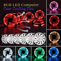 1PCS/3PCS/6PCS 120mm PC Computer 16dB Silent Cooling Fan Adjust RGB LED Computer Case IR Remote 12VDC Made Of ABS For CPU