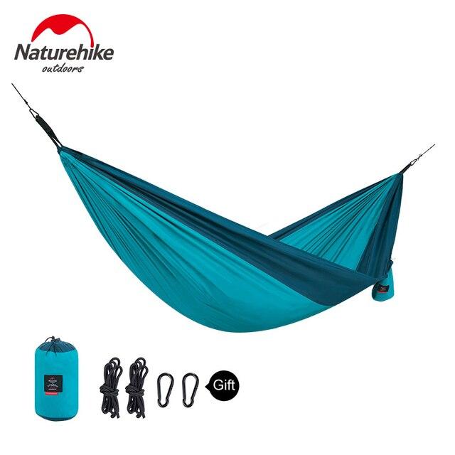 Naturehike 1-2 Persons Ultralight Single Double Camping Hammock Outdoor Hammock Swings Hanging Tent Portable Sleeping Bed 5