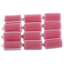 New Hot 12 pcs Magic Sponge Foam Cushion Hair Styling Rollers Curlers