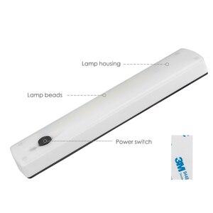 Image 2 - Bezprzewodowa lampka nocna LED COB szafa akumulator lampy dioda LED dużej mocy pasek Bar kinkiet do szafa na ubrania szafka schody korytarz