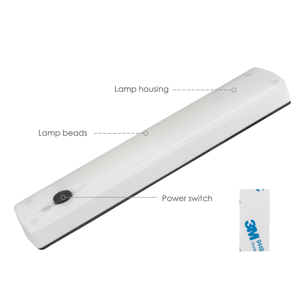 Image 2 - Wireless LED Night light COB Wardrobe Lamp Battery Power LED Strip Bar Wall lamp For Closet Wardrobe Cabinet Stairs Hallway-in LED Night Lights from Lights & Lighting