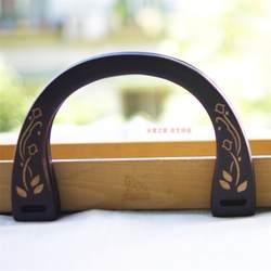 19X13 см черный с цветком U форма деревянные для сумок ручка Obag кошелек рамки оптовая продажа детали для сумок аксессуары Obag классический 2019