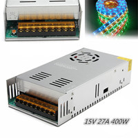 400W 15V 27A Switching Power Supply Source Transformer AC to DC SMPS Single Output for Lighting Mechanic Engineer