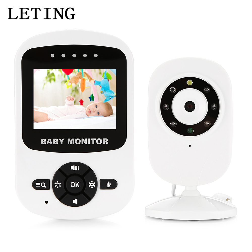 LETING Digital 2.4 Inch Wireless LCD Baby Video Monitor With Night Vision Baby Sleeping Monitor High-Resolution Safety Camera