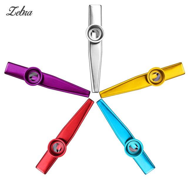 Zebra Metal Kazoo Lightweight Portable For Beginner Flute Instrument Music Lovers Woodwind Instrument Simple Design Lightweight