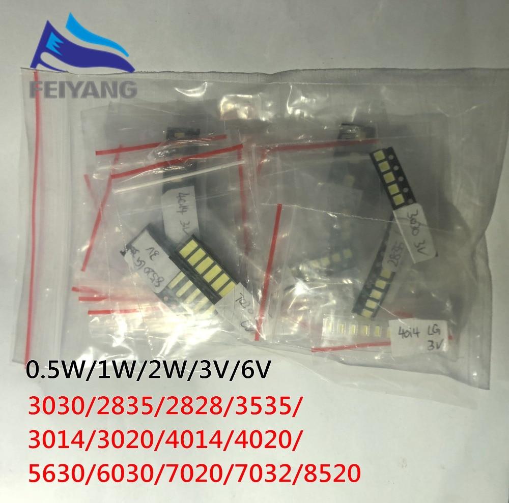 1000 шт./лот 1 Вт 2 Вт SMD LED комплект 3 в/6 в 2835/3030/2828/3535/5630/7020/7030/4020 холодный белый для подсветки телевизора бусины 10 * 100LG|Диоды|   | АлиЭкспресс