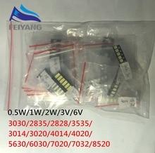 1000 sztuk/partia 1W 2W zestaw LED SMD 3V/6V 2835/3030/2828/3535/5630/7020/7030/4020/4014/7032 zimny biały dla TV podświetlenie koraliki 10 * 100LG