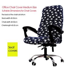 General Company Office Chair Cover Boss Computer Desk Swivel Chair Covers Connected Elastic Cloth Household Seat Cover(China)