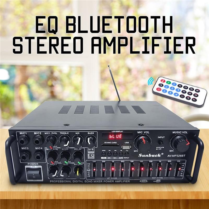 EQ 2000 watt 4 ohm 2CH Bluetooth Stereo Digital Power Verstärker AMP USB 64 gb Heimkino Verstärker