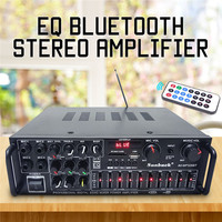 EQ 2000w 4 ohm 2CH Bluetooth Stereo Digital Power Amplifier AMP USB 64GB Home Theater Amplifiers